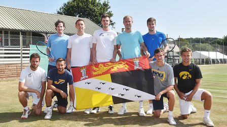 Tennis Summer County Cup at Cromer Tennis and Squash Club. Norfolk team. Back left to right, Richard