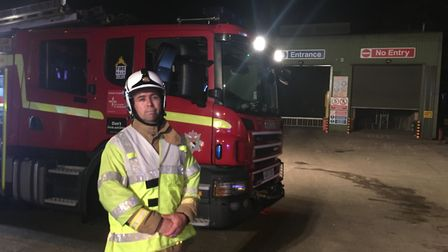 Scott Norman, from Norfolk Fire and Rescue. Pic: Dan Grimmer.