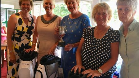 Pictured at Eaton Golf Club's Lady Captain's Day are, from left to right, Ann Lockhart, Julie Pointe