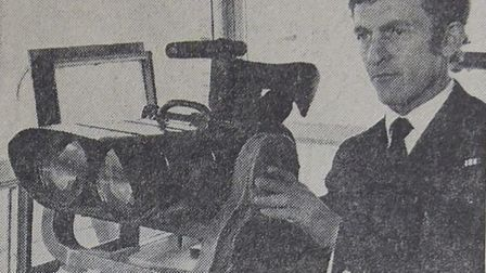 Gorleston Black Shuck sighting in 1972. Pictured: Graham Grant. Picture: EDP LIBRARY
