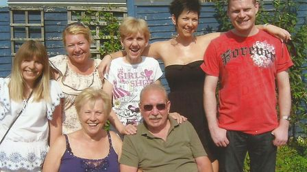 Maureen Walker and her husband with their family in Lowestoft