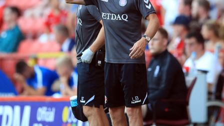 Charlton Athletic manager Lee Bowyer makes a point during a pre season friendly match at The Valley