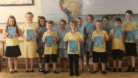 The Rotary Club of Dereham gave out free dictionaries to local schools including Yaxham Primary Scho