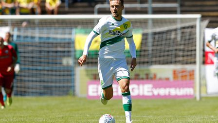 Tom Trybull of Norwich City during the friendly match at Benteler Arena, Paderborn.Picture by Focus