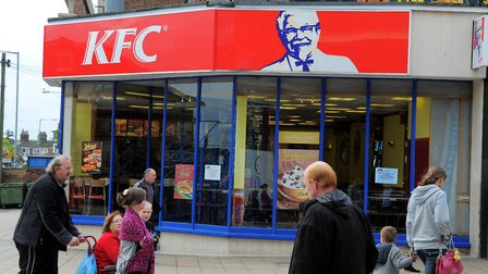 KFC on Regent Road, Great Yarmouth. A new branch could be built off Mitchell Drive. Picture: James B