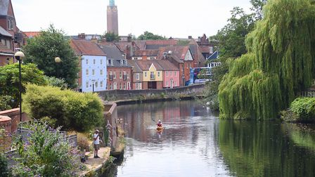 The River Wensum from Whitefriars Bridge. Picture: DENISE BRADLEY