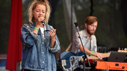 Caswell on stage at Diss Gig in the Park.Picture: Nick Butcher