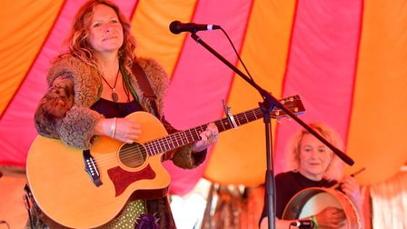 The Floozies on stage at Diss Gig in the Park.Picture: Nick Butcher