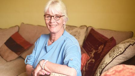 Kidney donor Diana Reynolds at her home in Wells. Picture: Ian Burt