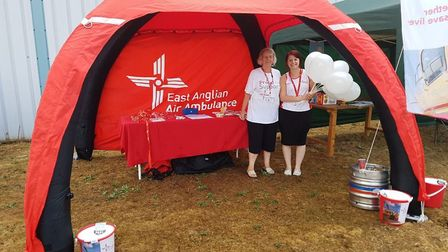 The Norfolk Day events at the Beers of Europe raised money for the East Anglian Air Ambulance Pictur