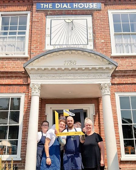 The dial house supporting Norfolk Day. Photo: Charlie Hodson