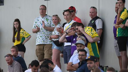 City's travelling contingent look on as their side take on Wolfsburg. Picture: Paul Chesterton/Focus