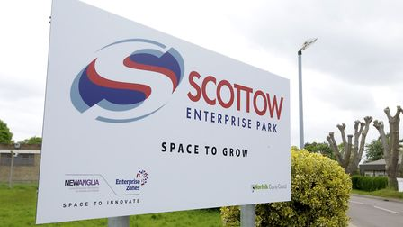 Scottow Enterprise Park at the former RAF Coltishall airbase. Picture: MARK BULLIMORE