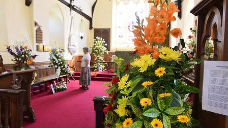 Flower festival at St Ethelberts Church in 2015. Picture: James Bass