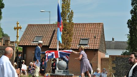 A First World War centenary garden has been unveiled in Thorpe St Andrew by the town council. Photo: