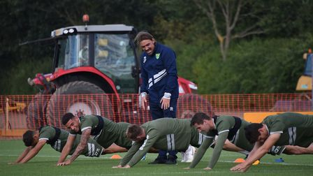 Head coach Daniel Farke keeps his players on their toes Picture: ANTONY KELLY