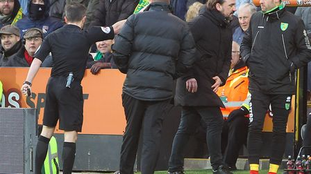 City head coach Daniel Farke was sent to the stands during last season's 0-0 home draw with Bolton P