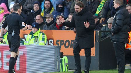 City head coach Daniel Farke was sent to the stands during last season's 0-0 home draw with Bolton,