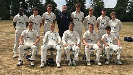 Norfolk Under-17s, who have been performing well of late, pictured with county captain and coach Chr
