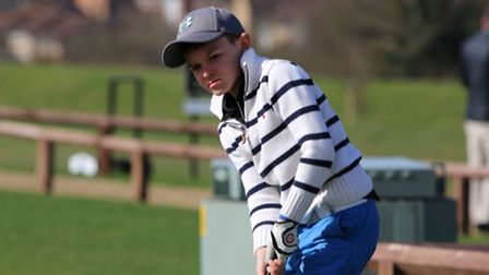 Young Romer Heywood has a trip to St Andrews to look forward to Picture: FAMILY