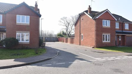 The access road and land off East Anglian Way in Gorleston. Badger Building planning application. P