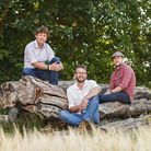 Brothers Alex, Gavin and Bruce Paterson in Worstead Park Picture: Chris Taylor