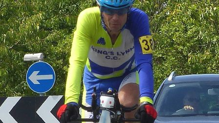 Simon Hardy (King's Lynn CC) in action at the CC Breckland 12-Hour. Picture: Fergus Muir