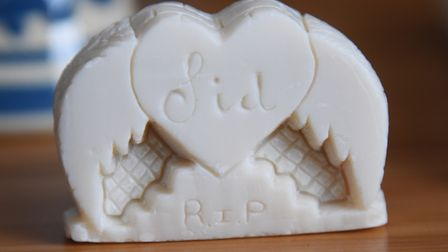 A remembrance for the family of John Allen, known as Sid, made from a bar of soap from a prisoner fr