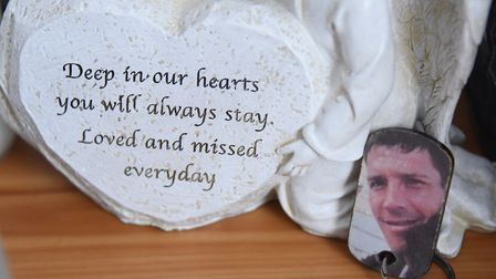 A remembrance of John Allen, known as Sid, in his room at his parent's house. Picture: DENISE BRADLE