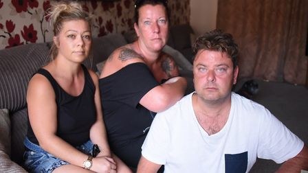 Some of the family of John Allen, known as Sid. From left, Kerry Allen, sister-in-law; Rachael Mason