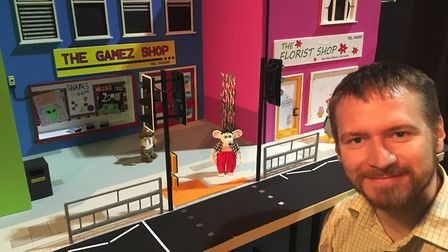 A model from the Zey the Mouse stop motion films created by Ian Harding (pictured), from King's Lynn