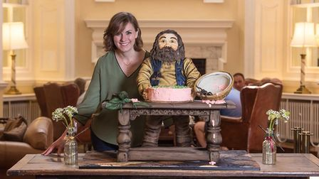 The School of Magic Afternoon Tea at the Assembly House in Norwich. The Keeper of the Keys Cake, cre
