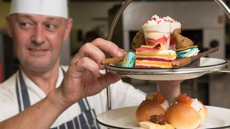 The School of Magic Afternoon Tea at the Assembly House in Norwich, designed by chef Mark Mitson.. P
