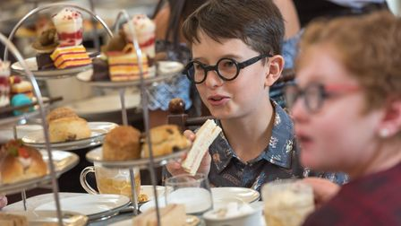 The School of Magic Afternoon Tea at the Assembly House in Norwich, designed by chef Mark Mitson. Ph
