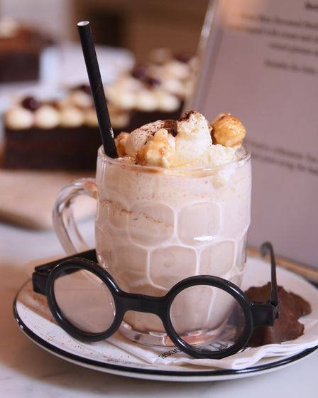 The Butter Beer Freakshake at the School of Magic Afternoon Tea at the Assembly House. Picture: DENI