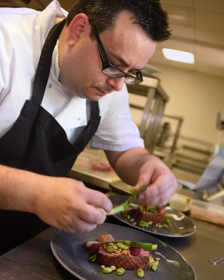Chef Mark Elvin, from the Boars, at work during the Chef of the Year competition for the Food and Dr