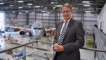 Simon Witts, ASP founder and chief executive, at the International Aviation Academy. Picture: DENISE