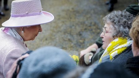 The Queen talks to Mary Relph. Picture: Matthew Usher.