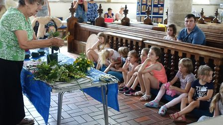 St Nicholas Church in Dereham hosted a floral craft afternoon. Picture: Supplied by St Nicholas Chur