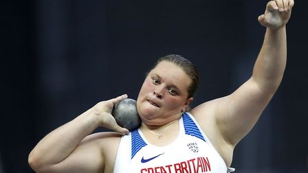 Great Britain's Sophie McKinna competes in the Women's Shot Put Final during day two of the 2018 Eur