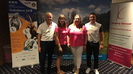 Pictured at the Charity Day at Bawburgh Golf Club are, from left to right, Robert Barnard (Bawburgh)