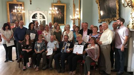 West Norfolk allotmeent challenge winners at the town hall Picture: BCKLWN