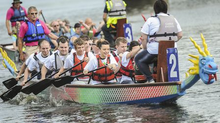 Scene from the dragon boat racing at Downham Market Water Festival Picture: Matthew Usher.