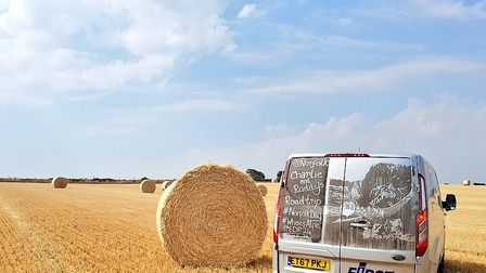 Farming scenes from Norfolk Day. Straw bales in a stubble field. Picture: Charlie Hodson