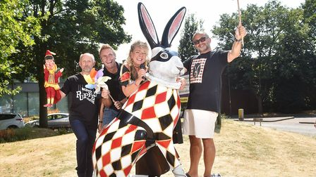 GoGoHares launch of The Mighty Quinn song to raise money for Break charity. Pictured with Hare LeQui