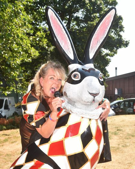 GoGoHares launch of Mighty Quinn song to raise money for Break charity. Pictured with Hare LeQuin, o
