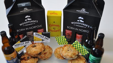The specially-created Norfolk Pie and Norwich Pie created for Norfolk Day. Picture: OPEN