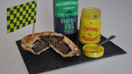 The specially-created Norwich Pie created by OPEN for Norfolk Day.It will be launched at the Canary