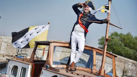 Norfolk Day 2018. Fun at Potter Heigham. Ronan Lumb as Lord Nelson. Picture: ANTONY KELLY
