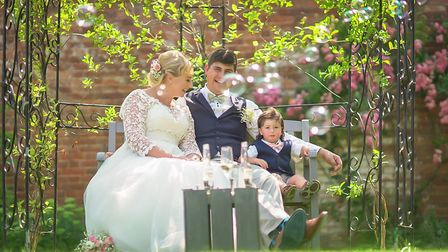 Newlyweds Lisa and Alan Palmer,31 and 33, from Blofield Heath, who got married on Norfolk Day, July